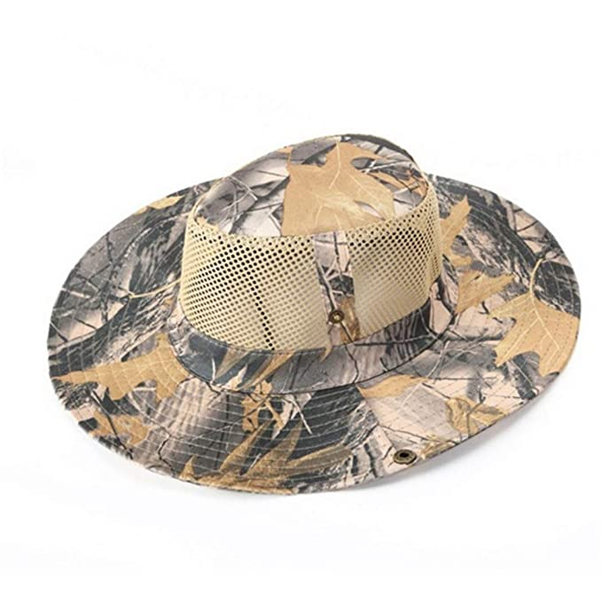2f7733c1 Image Unavailable. Image not available for. Color: Men's Summer Anti UV Sun  Hat Sunscreen Breathable Mesh Fishing Hiking Cap Outdoor ...
