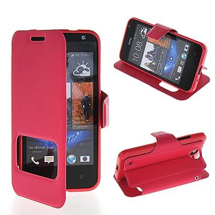 Amazon.com: HTC Desire 300 / Zara mini Case,ONEWIND [Hotpink ...
