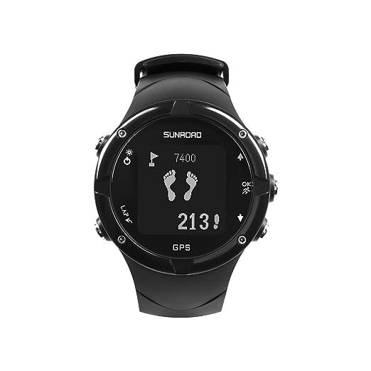 Sunroad - Reloj Digital para Hombre con rastreador de Actividad Deportiva e Impermeable, Monitor de Ritmo cardíaco, podómetro: Amazon.es: Relojes