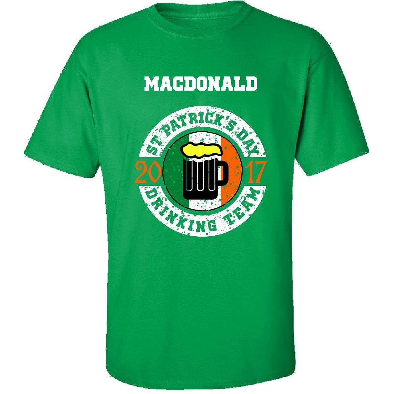 St Patricks Day Macdonald 2017 Drinking Team Irish - Adult Shirt