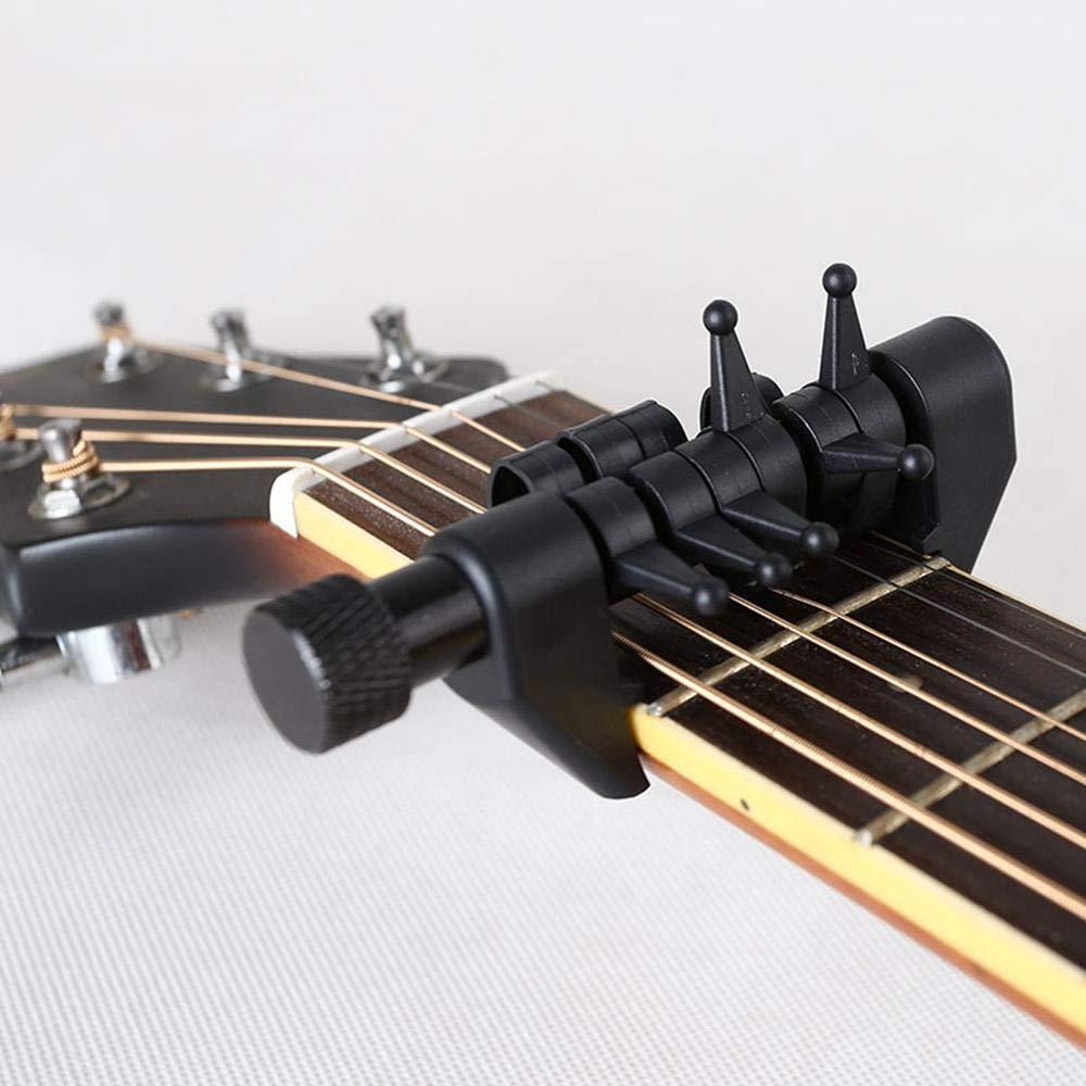 Volwco cejilla para afinador de Guitarra, multifunción, 6 Cuerdas ...