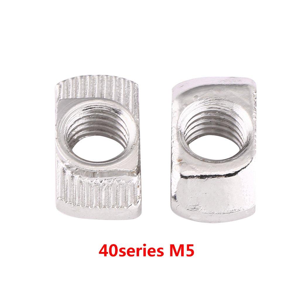T-slot écrou De Tête De Marteau Écrou Zinc Plaqué En Acier Au Carbone Pour Le Profil En Aluminium 50 Pcs (M6*16.5*8) Zerone