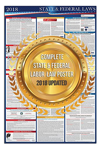 2018 Illinois State and Federal Laws Labor Poster - OSHA Workplace Compliant 36'' x 24'' - UV Coated by Compliance Audit Center (Image #3)