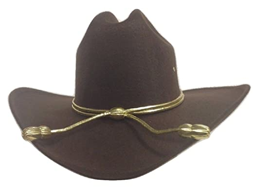 Amazon.com  King County Sheriff Hat Brown Lined Cowboy Western Gold Cord  LG XL Zombie Hunter  Clothing fb5475a4075