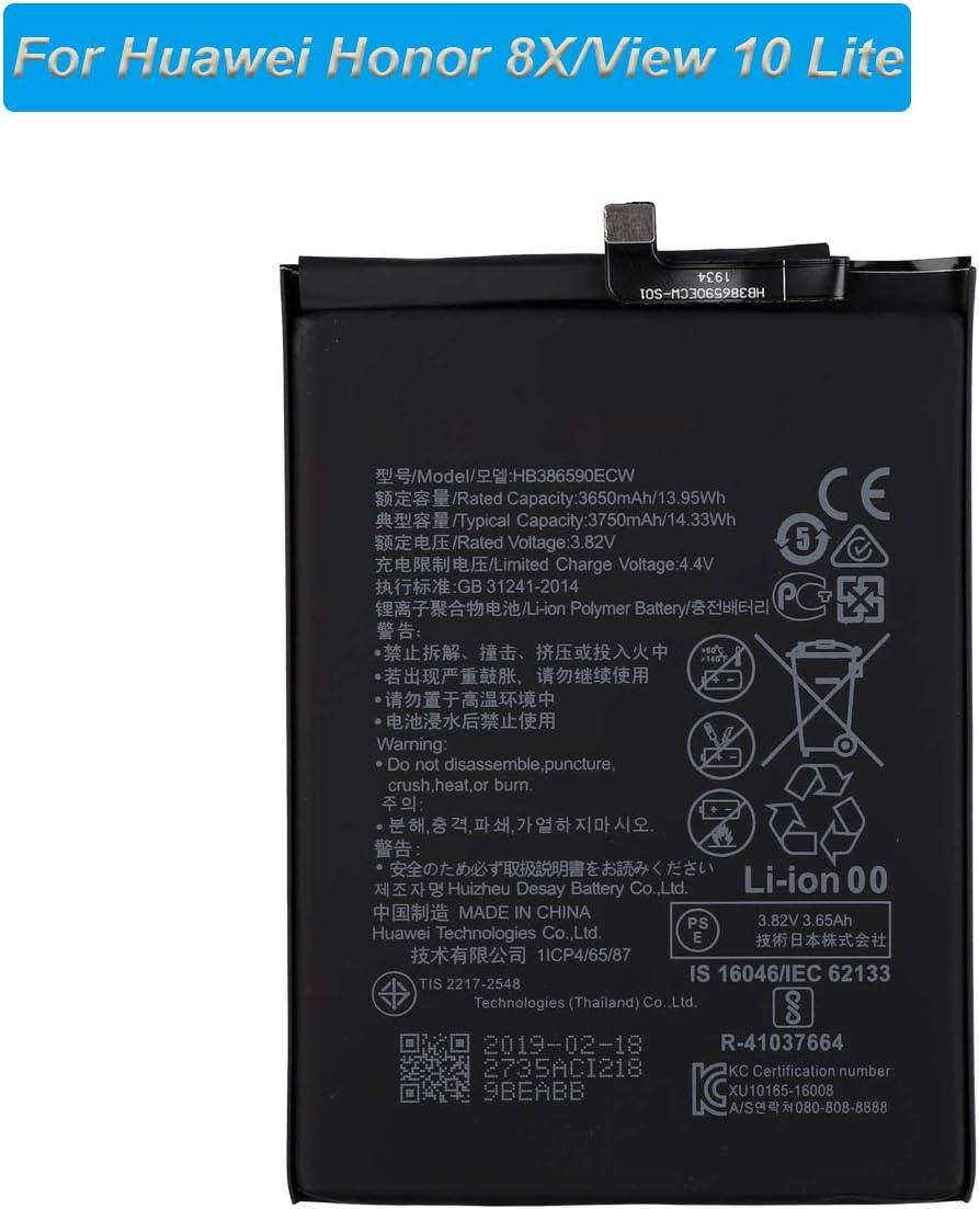 E-yiviil HB386590ECW - Batería de Repuesto para Huawei Honor 8X ...