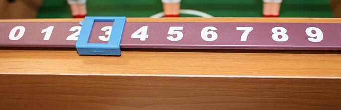Idena 6170001 - Mini futbolín (Incluye 2 Bolas y 12 Jugadores, 34 ...