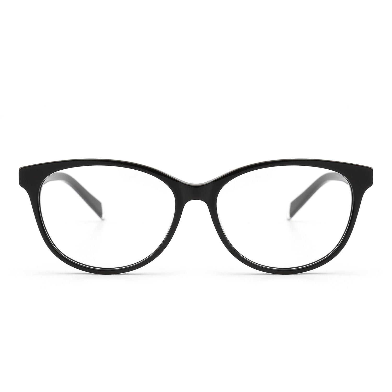JIM HALO Retro Brille Optischer Rahmen Federscharnier Klar Linse RX ...