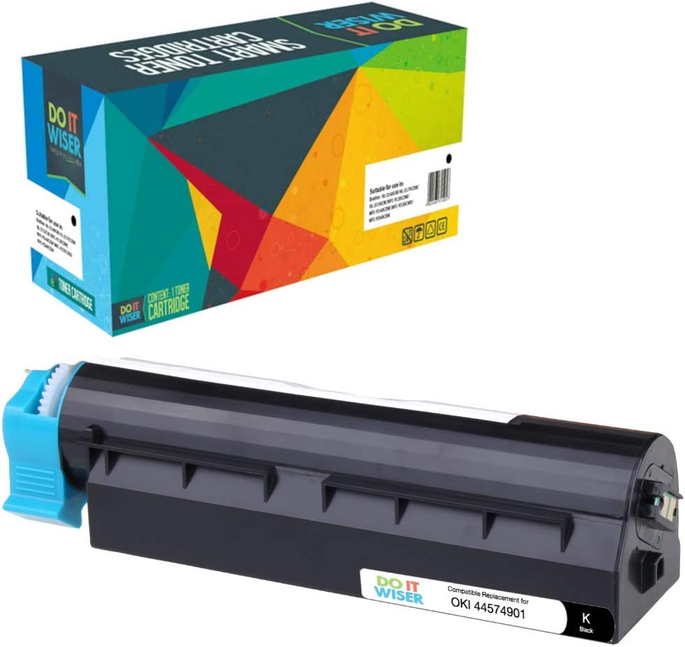10,000 Pages, Black Do it Wiser Compatible High Yield Toner Cartridge for Oki B431dn B411d MB471 B411dn B431d MB461 MF491 Okidata 44574901