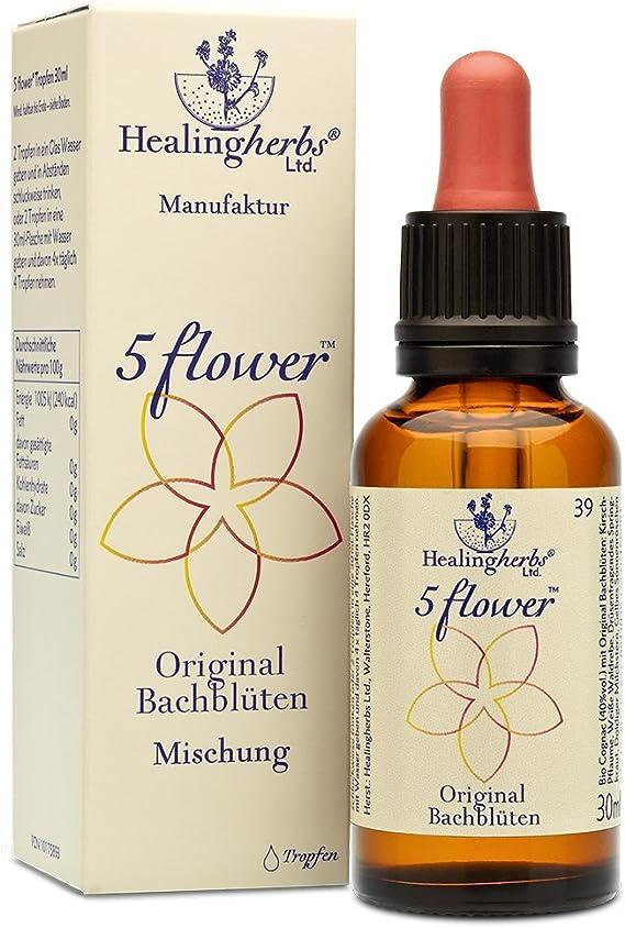 HEALING HERBS 5 FLOWER BACH REMEDY 30 ml. Remedio Rescate: Amazon.es: Salud y cuidado personal