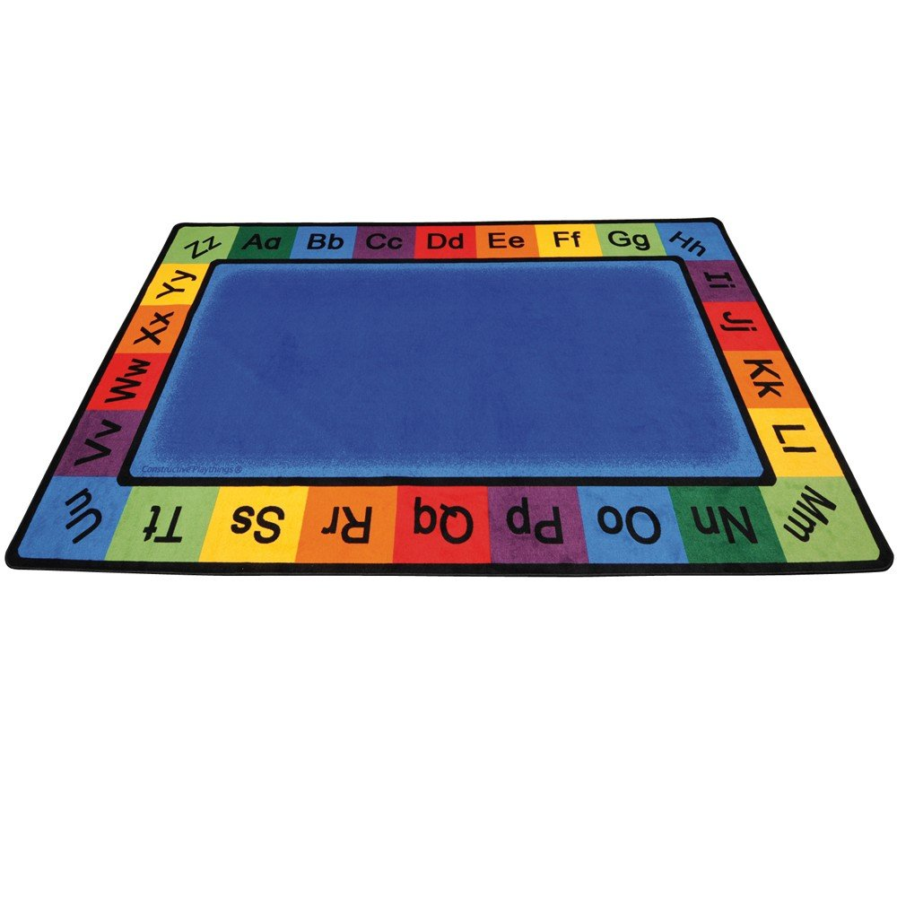 Constructive Playthings CKD-902 ABC Rainbow Rectangle Rug Grade: kindergarten to 3, 7' x 12'