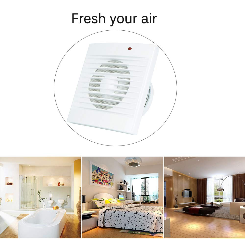 Ventilation Exhaust Fan, HG POWER Strong Exhaust Extrator Fan Wall Mount & Ceiling Exhaust Fan Built-in Household Ventilation Fans (PI372) by HG POWER (Image #5)