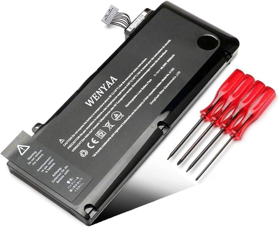 "WENYAA A1322 Laptop Battery Replacment for MacBook Pro 13"" A1322 A1278 (Mid 2009 2010 2012,Early 2011,Late 2011); fit 020-6547-A 661-5557 MB990LL/A MB991LL/A MC374LL/A MC700LL/A MD101LL/A MD102LL/A"