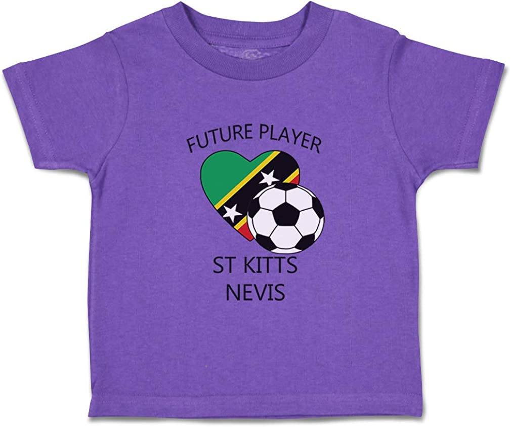 Custom Baby /& Toddler T-Shirt Future Soccer Player St Kitts Nevis Cotton