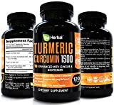 BE HERBAL Organic Turmeric Curcumin with Bioperine 1500mg – The Most Potent Turmeric Curcumin Supplement with 95% Standardized Curcuminoids – Enhanced with Ginger Extract – 120 Veg Capsules Review