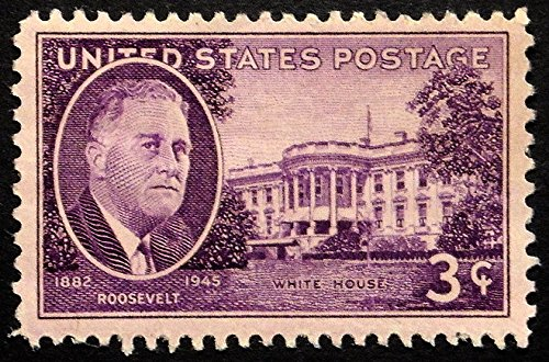 President Roosevelt 1882-1945, USA -Handmade Framed Postage Stamp Art 21973AM