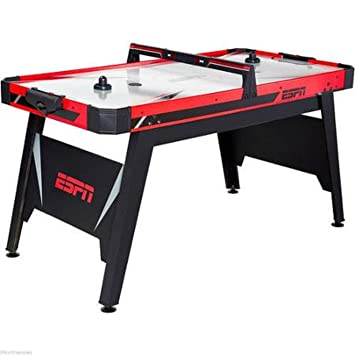 New ESPN 60 Air Powered Hockey Game Table Kids Youth Play Room Games