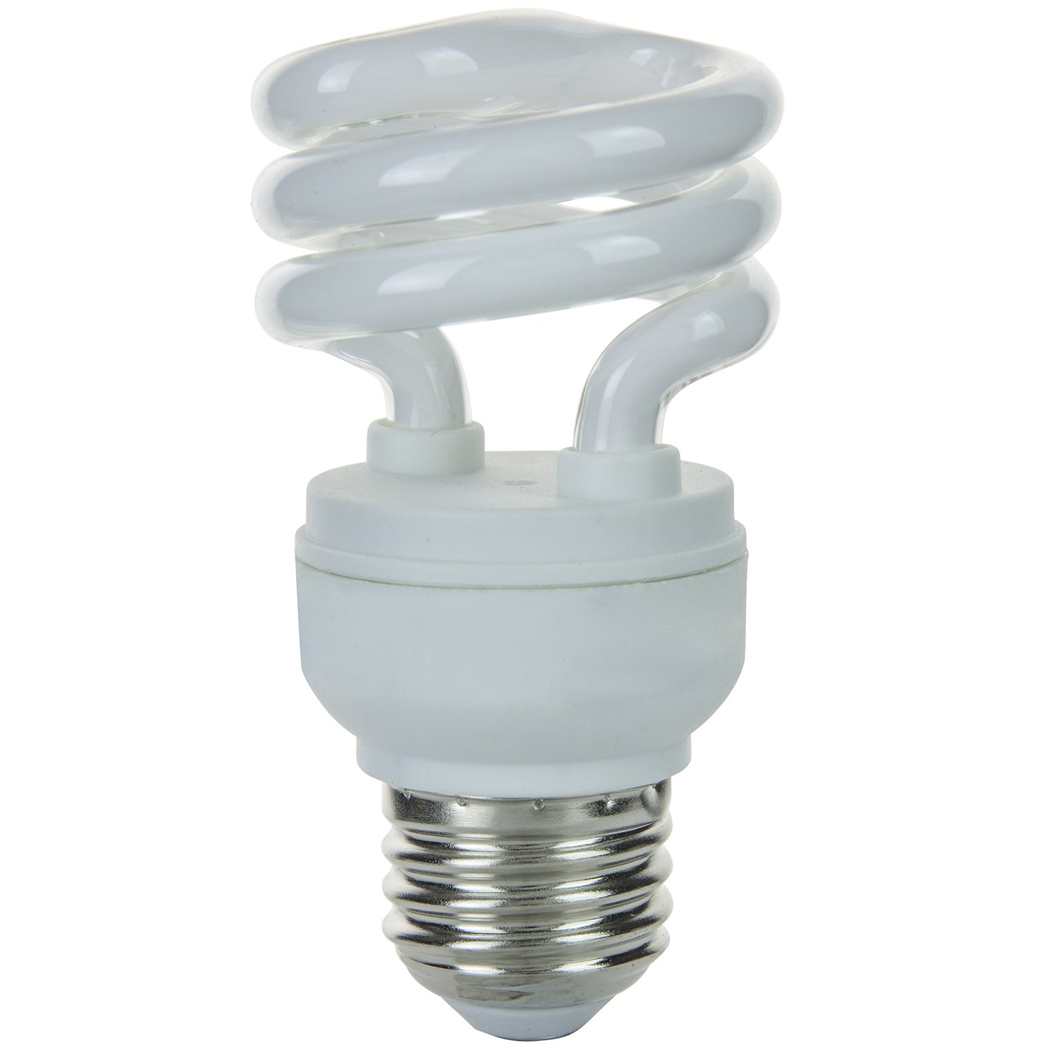 Sunlite SMS9/41K 9-watt T2 Super Mini Spiral CFL Light Bulb, Medium E26 Base, Cool White