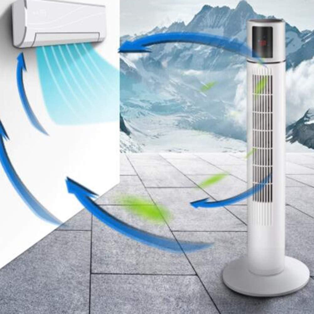 AWSAD Fan della Torre Ventilatore Portatile Rinfrescante Silenzioso Dormitorio Soggiorno Camera da Letto Ufficio, 20x87cm (Color : White) White