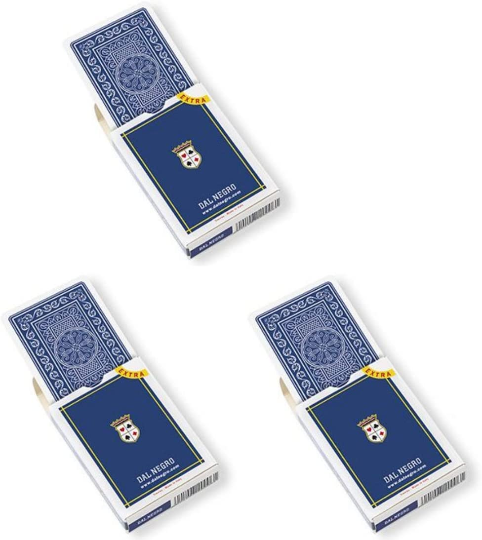 Pack of 3 Dal Negro Poker Extra Blue Case