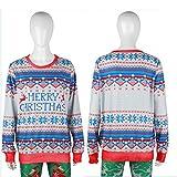 Winter Top,Smdoxi Men's Women Christmas Sweater Vacation Santa (M, Gray)