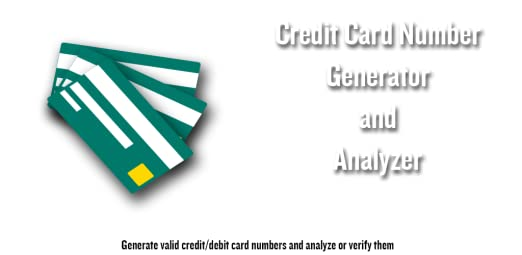 Credit card number generator and verifier