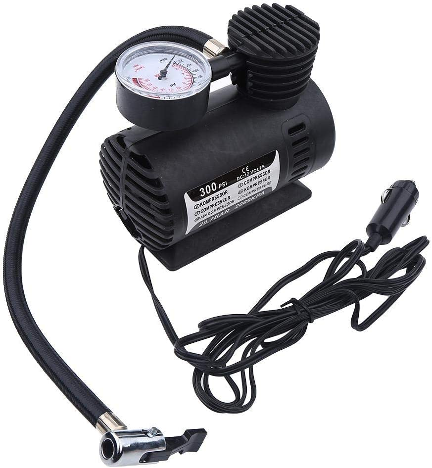 Compresor de aire - 1 PC de Mini compresor de aire portátil, bomba eléctrica de inflado de neumáticos, 12 voltios, coche 300 PSI.
