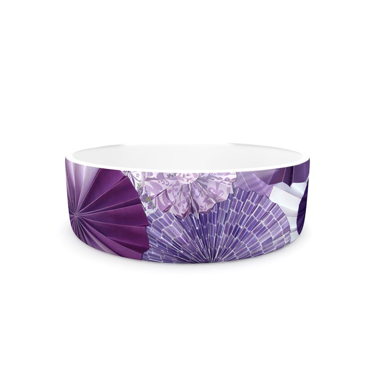 Kess InHouse Heidi Jennings Lavender Wishes  Pet Bowl, 7-Inch, Purple