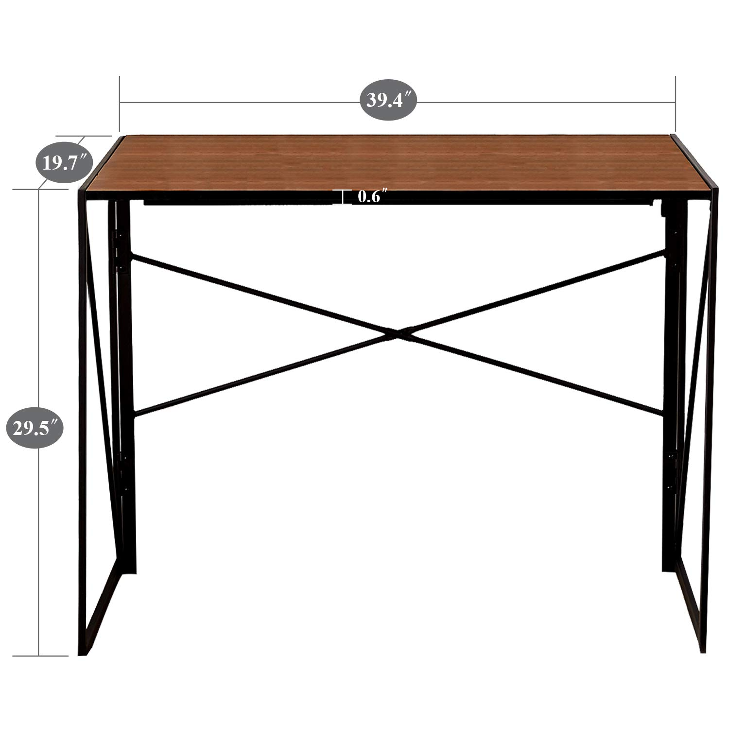 VECELO Writing Computer Folding Desk/Sturdy Steel Laptop Table for Home Office Work by VECELO (Image #7)