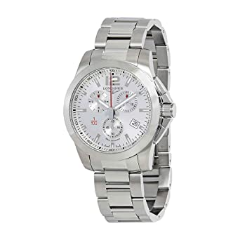 Longines Conquest Chronograph Silver Dial Mens Watch L38004766