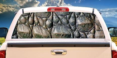 Amazoncom GATOR SKIN Rear Window Graphic Truck View Thru Vinyl - Truck back window picture