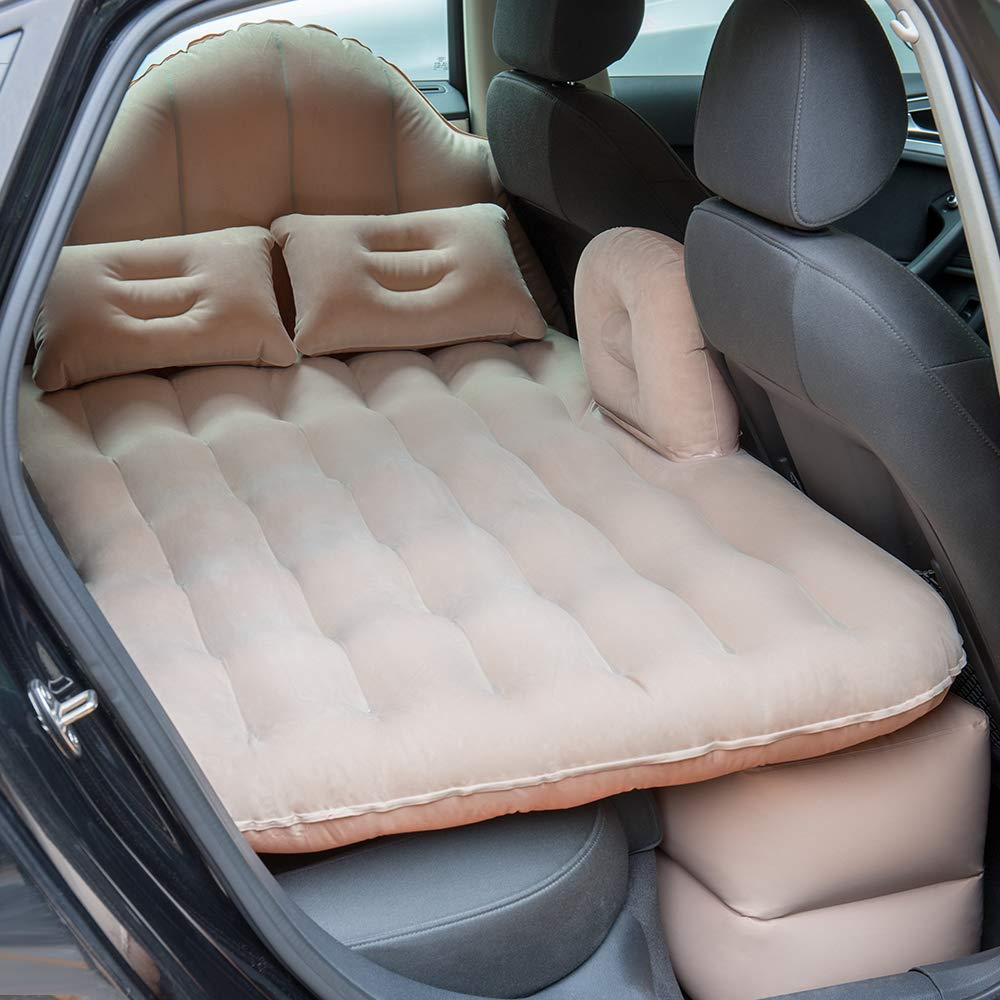 NEX Car Mattress Air Inflatable Car Bed Back Seat Cushion Couch with Motor Pump, for Sleep,Rest, Travel, Camp, Fits Universal Car SUV  by NEX
