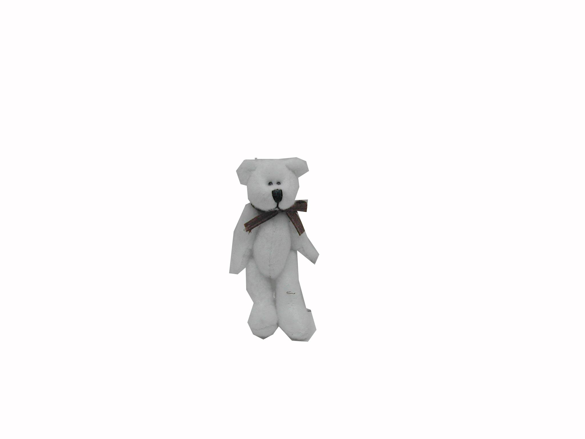 Craft Outlet 2.5-Inch White Bear Figurine, Mini, White, Set of 6