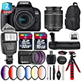 Canon EOS Rebel 800D/T7i Camera + 18-55mm IS STM Lens + Battery Grip + 64GB Class 10 Memory Card + 6PC Graduated Color Filter Set + 2yr Extended Warranty + 32GB Class 10 - International Version