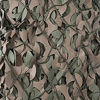 Image of Camouflage Accessories CamoSystems Pro Series Military Camouflage Netting with Mesh Attached, Large, 9'10' W x 19'8'L, Original Camo - Green/Brown