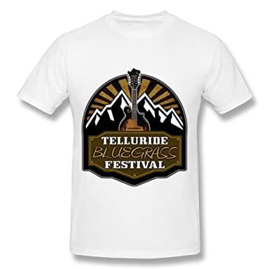 c3f242ff Amazon.com: QDJT Men's Telluride Bluegrass Festival 2015 T-shirt ...