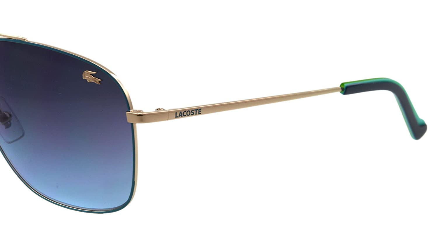 fdc9b7df0a45 Lacoste L128S 757 Gold   Blue Sunglasses  Amazon.ca  Clothing   Accessories