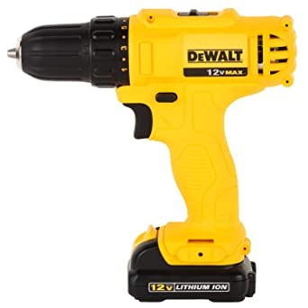 Dewalt DCD700C2-IN 12V MAX (Li-ion) 10mm Cordless Screwdriver/Drill Power Drills at amazon