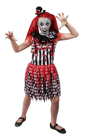Kinder Horror Clown Kostum Verkleidung Zirkus Fasching Halloween