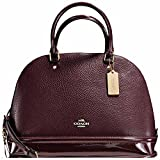 SALE ! New Authentic COACH Exquisite Wine Pebble Leather Dome Satchel Large Handbag/Shoulder Bag