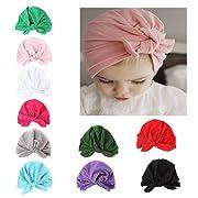 10 Pieces Adorable Baby Knot Headbands Newborn Elastic Sretch Head Wrap Baby Hat