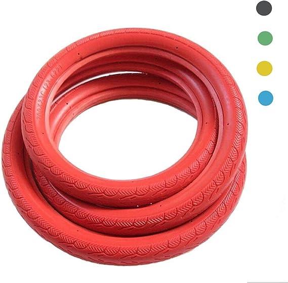 COEWSKE - Neumáticos de bicicleta para bicicleta, 700 C x 23, neumáticos fijos, rojo: Amazon.es: Deportes y aire libre
