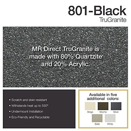 Black Trugranite Single Bowl Kitchen Sink