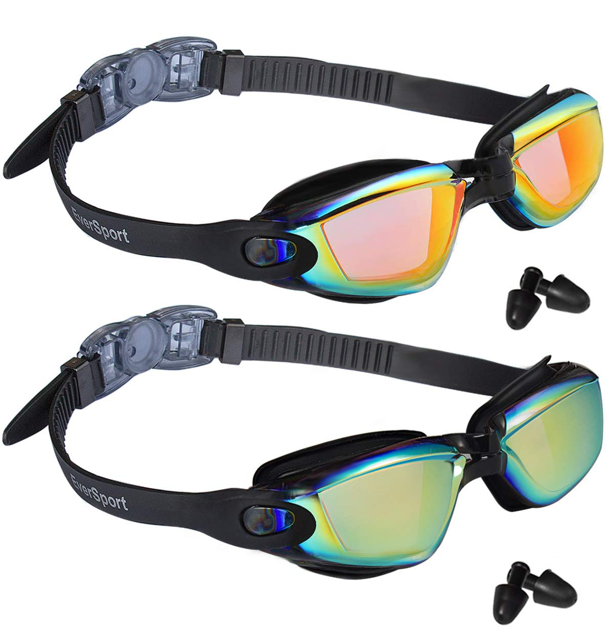 EverSport Swim Goggles Pack of 2 Swimming Goggles Anti Fog