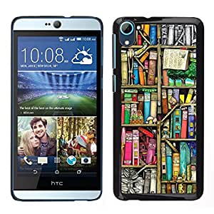 Impact Case Cover with Art Pattern Designs FOR HTC Desire D826 Reading Library Teach School Betty shop