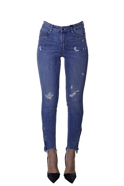 a2dfe2e2ea5b Guess Jeans Donna 1981 Zip W92A69D3LE0 PESD: MainApps: Amazon.it ...
