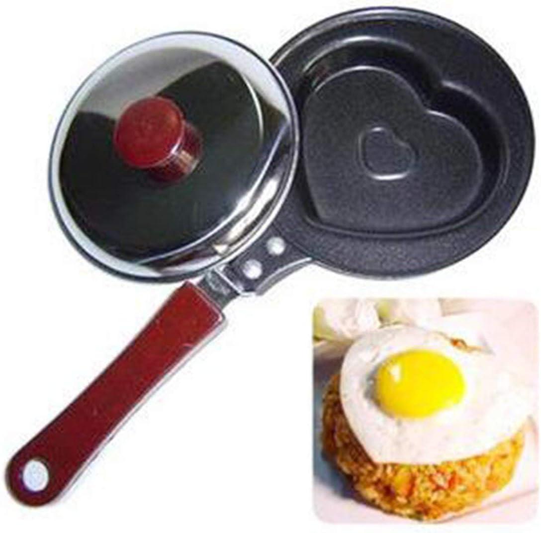 Schwarz Vige Mini Egg Fried Pan Creative Mold Fr/ühst/ückspfannkuchenpfanne Antihaft-Kochgeschirr