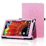 ACdream RCA Voyager 7 Case, Folio Premium PU Leather Cover Case for RCA Voyager 7'' 16GB/8 GB Tablet Android 6.0 (Marshmallow), Pink Star of Paris
