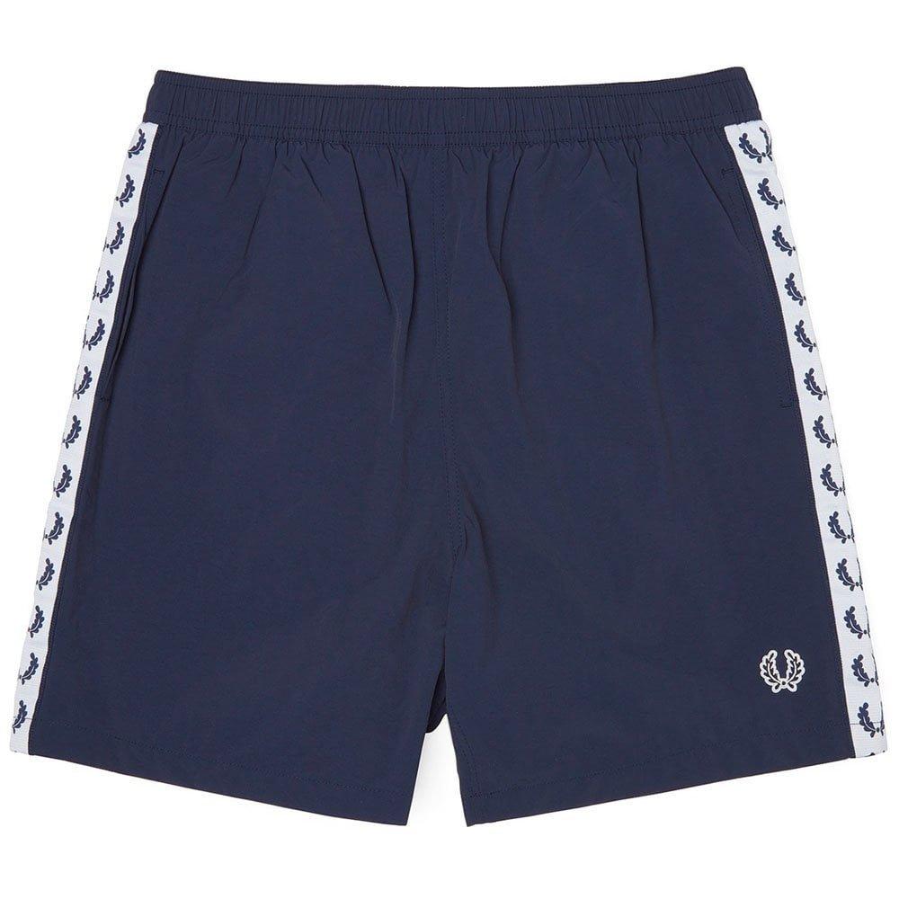 Fred Perry Hombres shorts de baño con cinta Negro