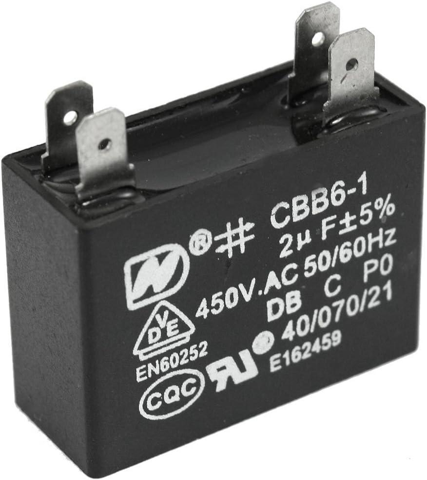 Ventilador de techo DealMux 2 uf CBB6-1 450VAC polipropileno-con-condensador-motor