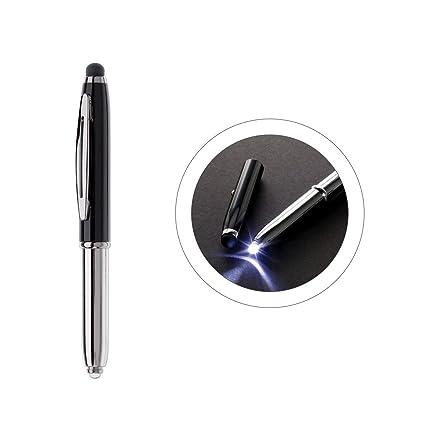 Touchpen penna a sfera con Led Luce colore  Argento Nero  Amazon.it ... e3ef881dde09